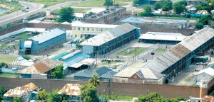 View of Jamaica prison.