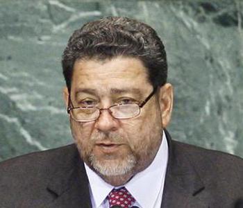 St Vincent prime minister Dr Ralph Gonsalves