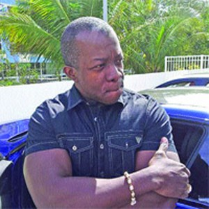 Daryan Warner stands outside his Miami condo last week where he was interviewed by CCN senior multimedia investigative journalist Mark Bassant.
