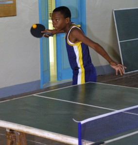 Jelani Miller serving his way to the Champion of Champions title.