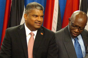 Attorney General Anand Ramlogan and National Security Minister Jack Warner.