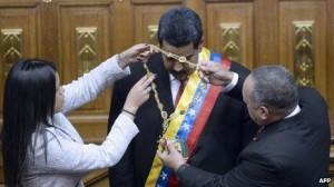 Venezuela President Nicolas Maduro being attended to.