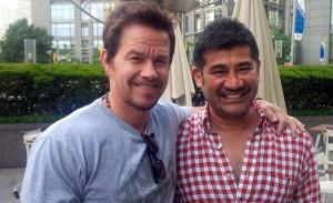 Mark Wahlberg (left) and Ajmal Khan