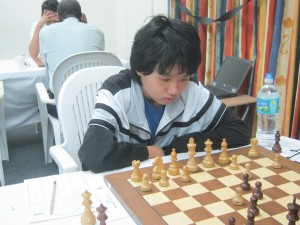 Yutien Poon of The Lodge School in action.