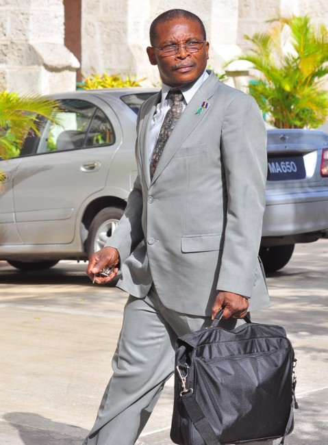 Minister of Housing and Lands Denis Kellman