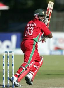 Hamilton Masakadza led Zimbabwe's victory efforts.