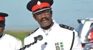 Commandant of the Regional Police Training Centre Sylvester Louis