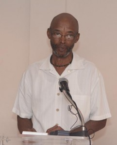 Edward Thompson, PRO of the Barbados Special Olympics, the newest charity to benefit from the Silver Dollars Drive.