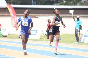 The under-13 girls' 100m saw Reann Phillips of St Bartholomew Primary winning just ahead of Rickyla Fagan of Hillaby Turner's Hall.