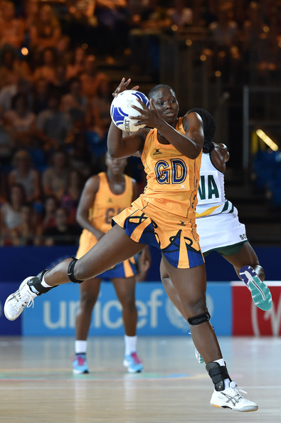Rhe-Ann Niles in action during the game against South Africa.