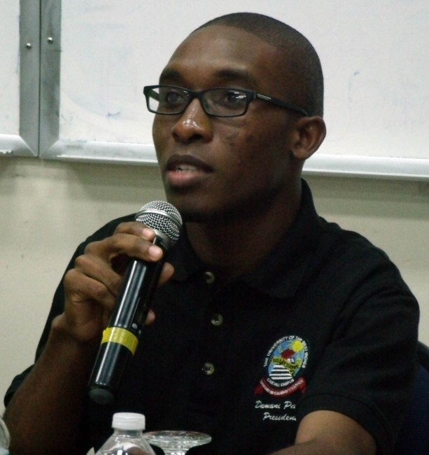 President of the UWI Cave Hill Campus Guild of Students, Damani Parris.