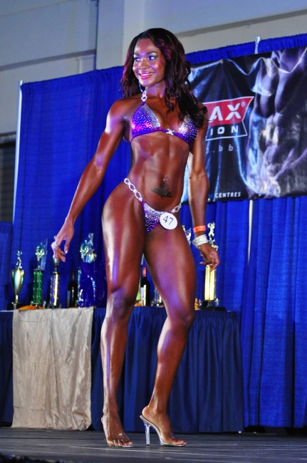 Domini Alleyne was the outstanding bikini body.