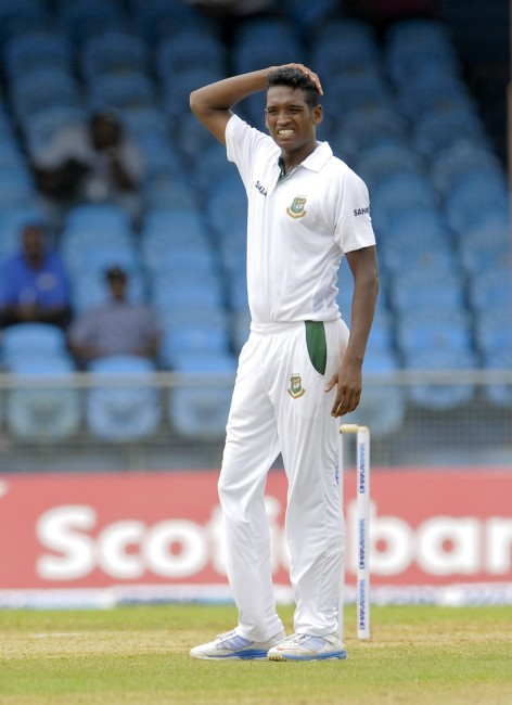 Al-Amin Hossain's bowling action has come under ICC scrutiny.
