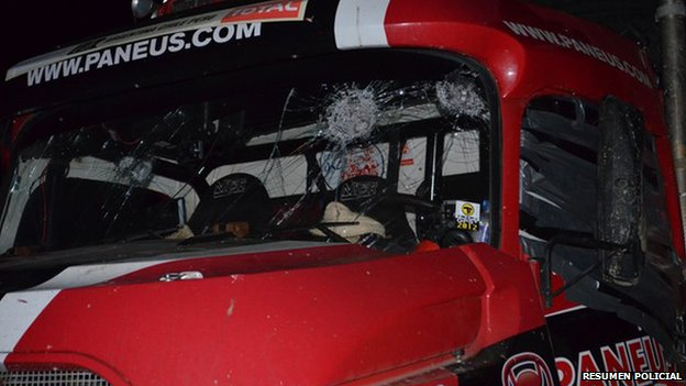 Vehicles carrying Top Gear production crew were also targeted.