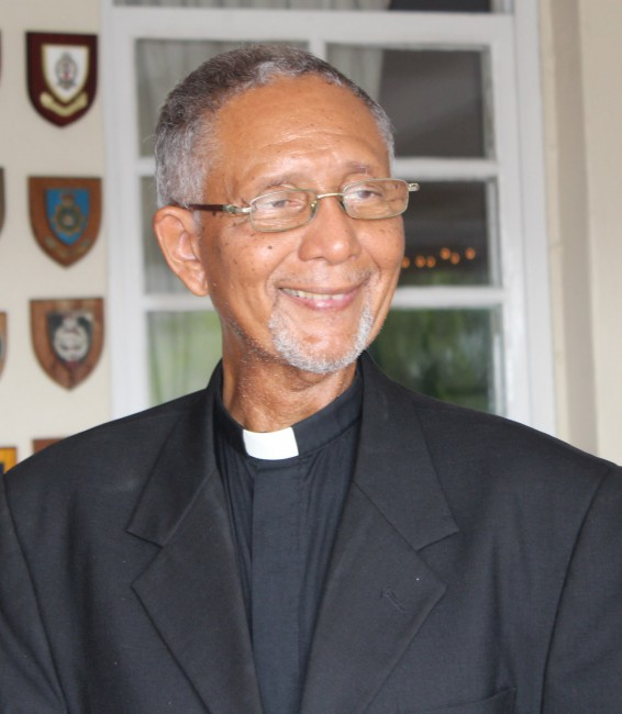 Canon DeVere Murrell, retiring chaplain of the Barbados Defence Force.