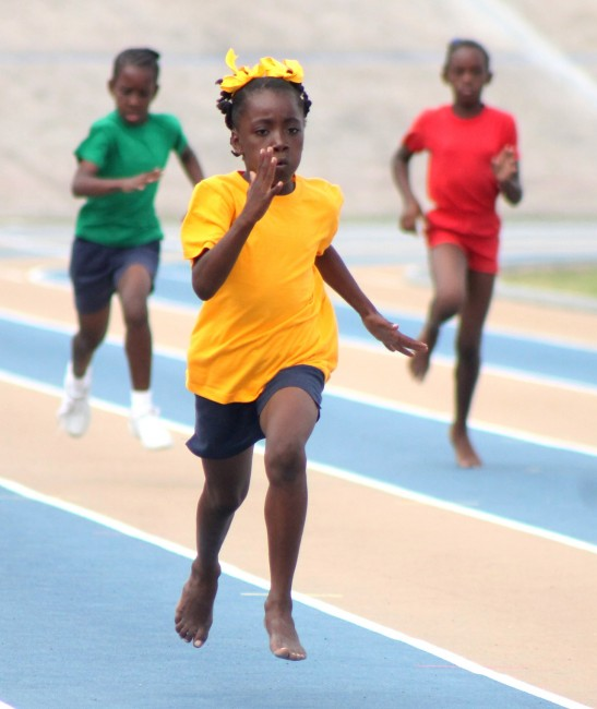 Lanicia Harewood of Blue House won the under-11 girls 200m.