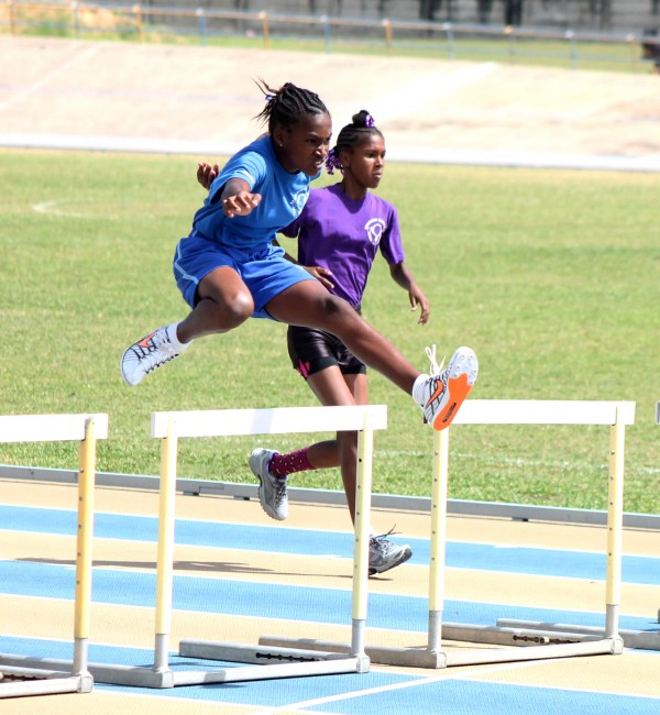 Andrenique Straker of Blue House won the division five 75m hurdles.