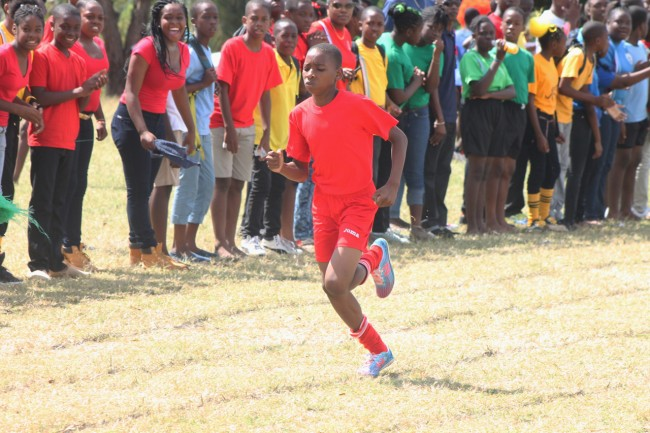 Shabari Lynch of Red House was a clear winner in the under-13 boys 400m.