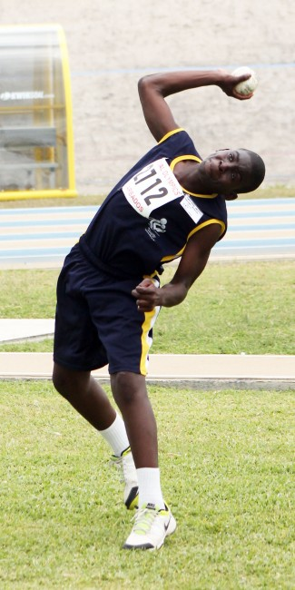 Kemar Butcher of the Learning Center won the cricket ball event with a throw of 35.85m.