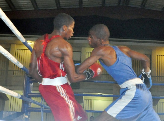 Ricardo Blackman Jr. (left) was involved in a war against Seon Griffith (right) in his last bout but emerged victorious and the better for the strong challenge.