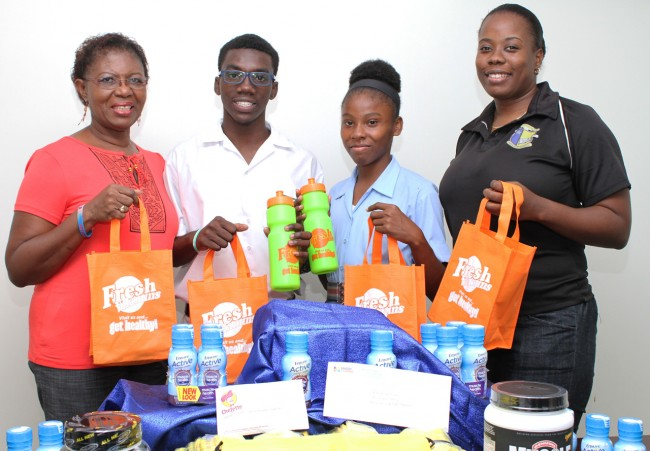 Proud Members of the CARIFTA team  showing off their gifts.
