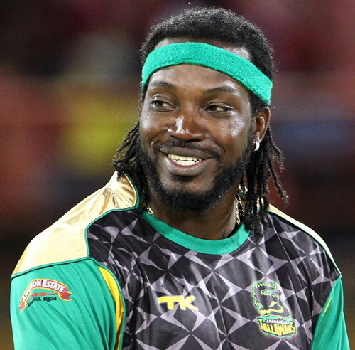 One of CPL's biggest drawing cards, T20 world boss –– Chris Gayle of the Jamaica Tallawahs.