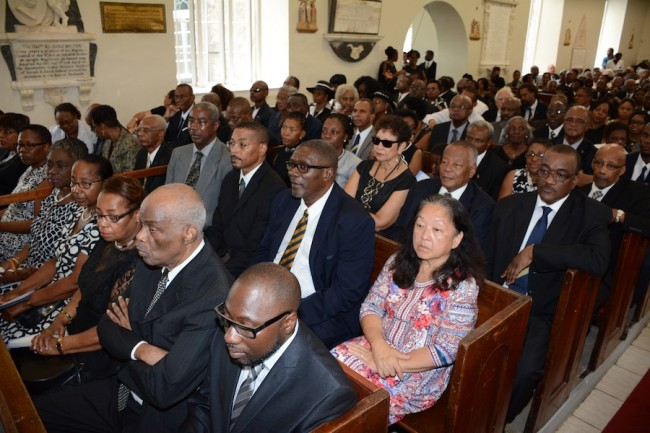 A packed church showed the high esteem in which the late Dorian Pile was held by a wide cross section of the Barbadian society.