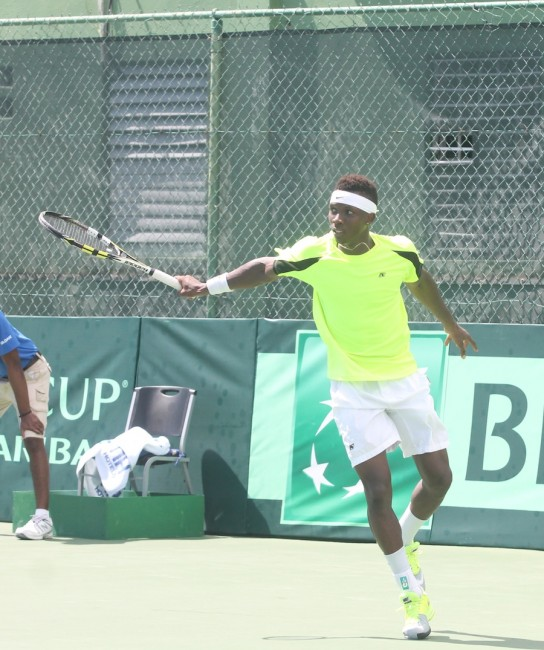 Seanon Williams tried his best for Barbados after Hadyn Lewis' withdrawal but was no match for Gonzalo Escobar.