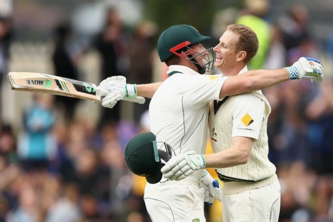 Adam Voges and Shaun Marsh shared a record 449 fourth-wicket partnership.