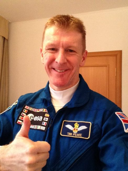 Astronaut Tim Peake posted this picture to Twitter before heading into space.