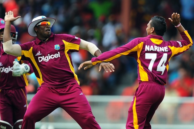 Kieron Pollard (left) and Sunil Narine have withdrawn from T20 World Cup.