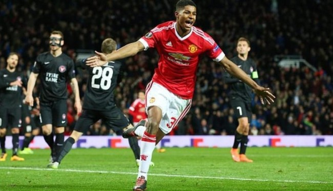 Marcus Rashford scored twice on debut.
