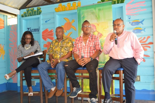 NCF corporate communications specialist Simone Codrington, Colin Spencer, Smokey Burke and NCF CEO Cranston Browne.