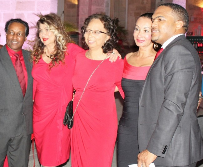From left, Director of Public Prosecutions Charles Leacock, Suzanne Costello-Haloute, Betty-June Leacock, Dr Camille Hope and Collin Francis, general manager of Global Directories.