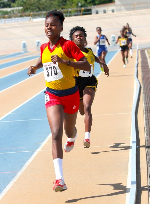 Mary Fraser of Daryll Jordan Secondary won the under-20 girls 800m ahead of Elizabeth Williams of Christ Church Foundation.