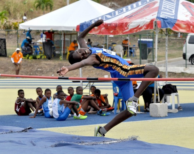 Tyreek Odle managed second place and advanced in the Boys Open high jump  with a leap of 1.25m.