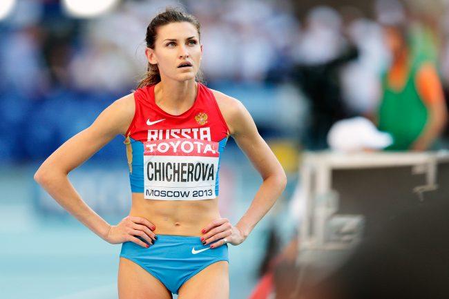 Russia's 2012 gold medallist Anna Chicherova among those fingered.