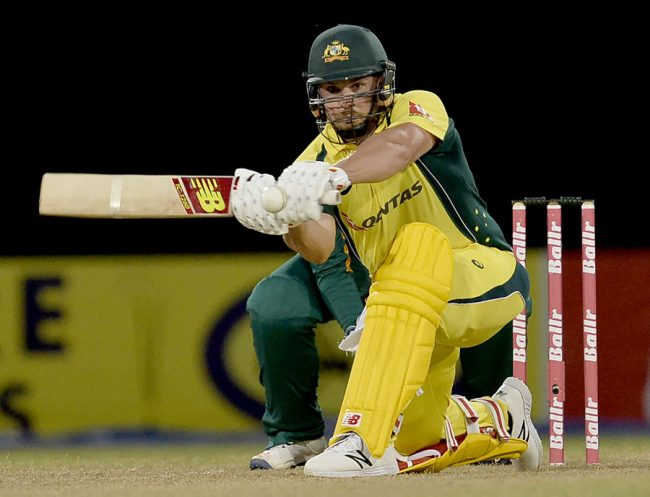 Aaron Finch made 72 which was more than half the Aussies' total.