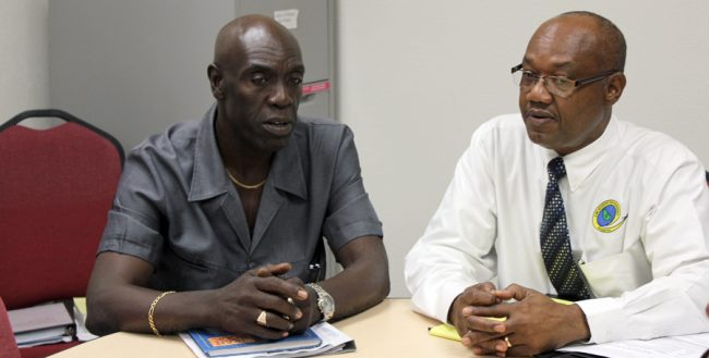From left, CTUSAB General Secretary Dennis De Peiza and President Cedric Murrell.