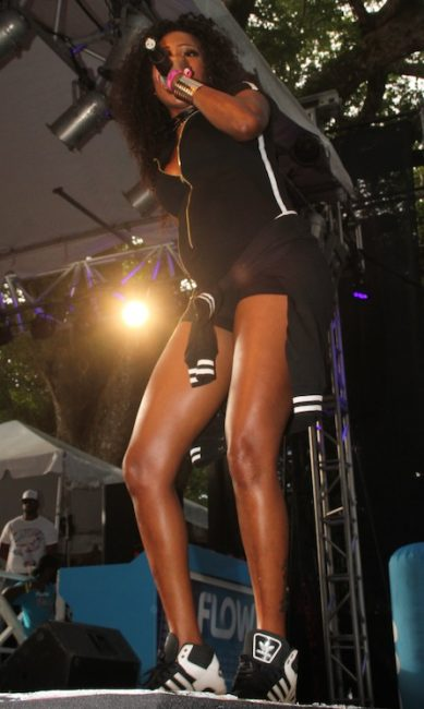 Patrice Roberts performing at Soca on De HIll