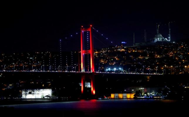 Bosphorus bridge, which links the city's European and Asian sides, is pictured in Istanbul, Turkey, July 15, 2016. REUTERS/Murad Sezer