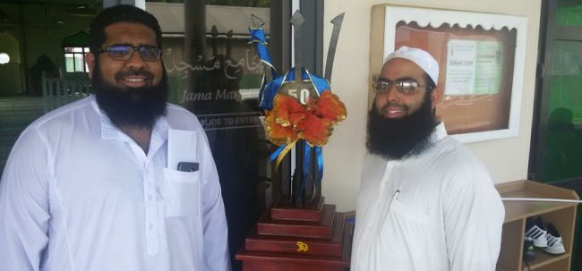 (From left) Secretary of the Jumma Masjid Mosque, Mohammad Rafik Nagdee  and Aakil Bhula, Imam of the mosque.