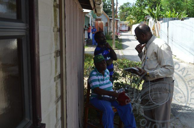 Maureen Scantlebury in conversation with NAB Chairman Pastor David Durant.