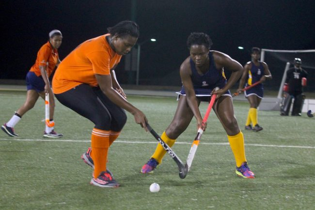 Tammisha Small (left) scored two great goals for Avengers women that saw them through to the final.