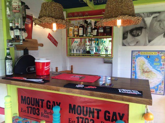 Inside the Rum Corner.