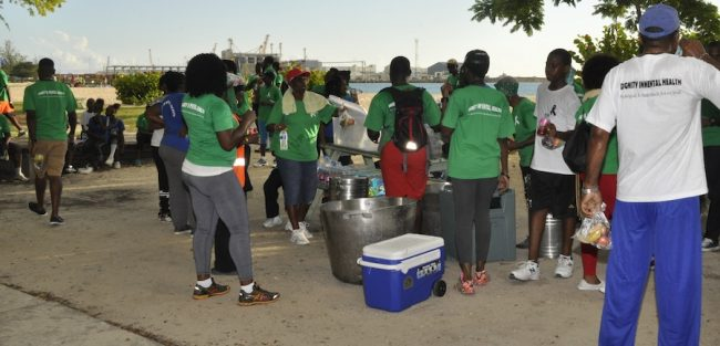 Participants gathered at Brandon's Beach to enjoy food and a mini-concert after the 5k walk/run.