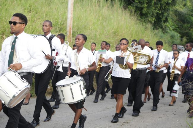 The talented Barbados Pathfinder Band accompanied the uniformed groups on parade.