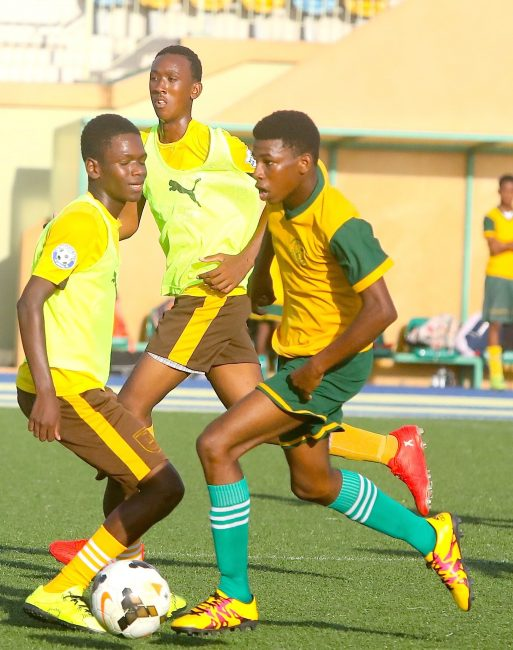 Jarad Maxius of Parkinson (r) has been among the best strikers in the tournament.