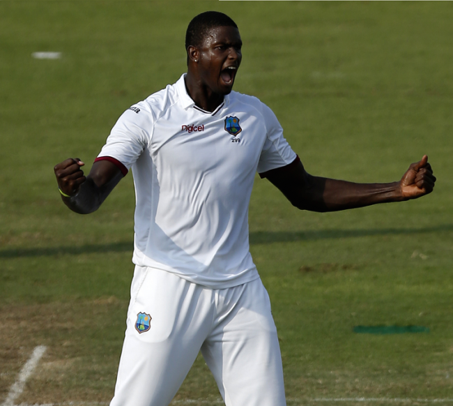 Jason Holder claims another wicket.