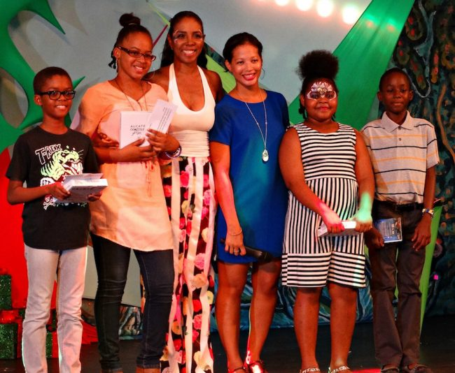 From left, Jordan Greig, Fazeena Bassalat, Ebonnie Rowe, Caroline Reid, Chia Scantlebury and Zared Carrington.